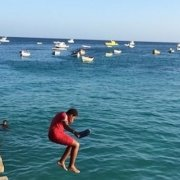 jetty jumping in Santa Maria, Sal, Cape Verde