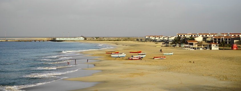 Bitxe Rotxa the main beach in Vila do Maio, Cape Verde