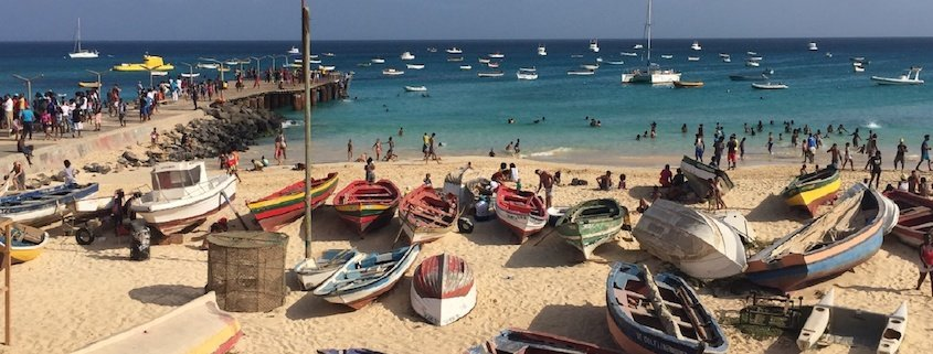 Santa Maria beach and Pier Sal Cape Verde