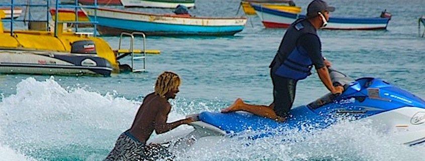 Jet skiing in Sal Cape Verde