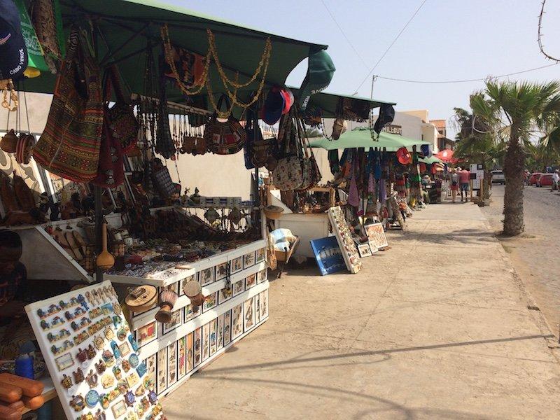 Street stalls Santa Maria Sal Cape Verde