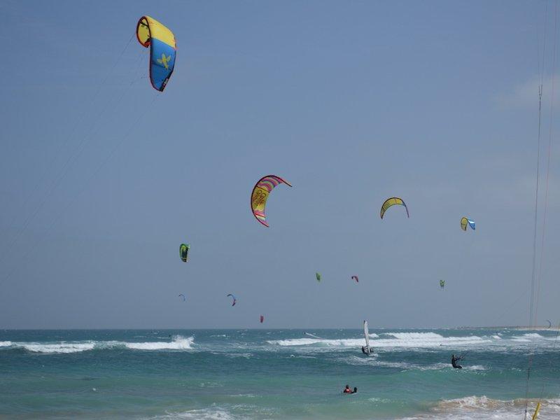 Kitesurfing, Sal, Cape Verde