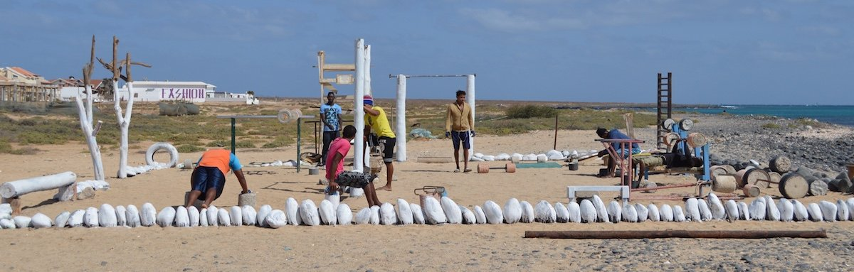 Beach gym Santa Maria, Sal, Cape Verde