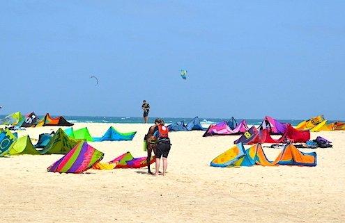 Kite Beach on Sal Island, Cape Verde