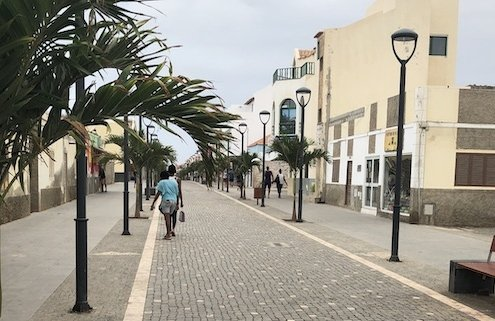Main street in Santa Maria, Sal