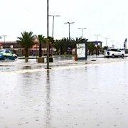 Heavy rain in Sal