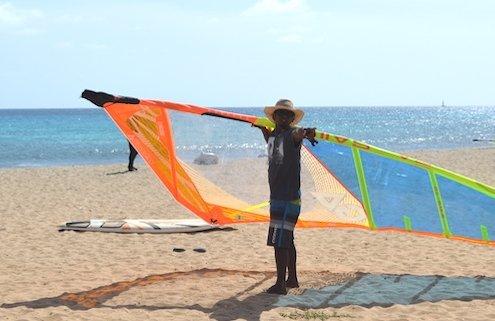 Windsurfer at Santa Maria, Sal