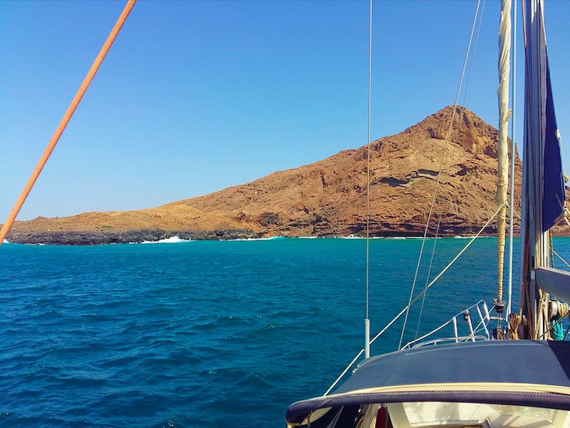 sailing from Sal Cape Verde